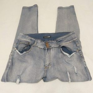 Fashion Nova Ripped Skinny Jeans Size 3X